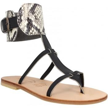 Chaussures Femme Sandales et Nu-pieds Spartiates Phoceennes Alicia cuir Femme Noir Noir