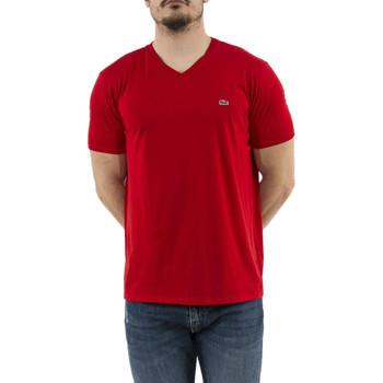 Vêtements Homme T-shirts manches courtes Lacoste th6710 rouge