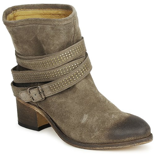 Chaussures Femme Bottines Atelier Voisin FEW DAIM Taupe