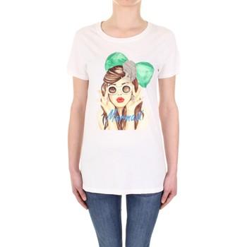 Vêtements Femme T-shirts manches courtes Vicolo RU0081 crème
