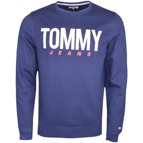 Vêtements Homme Sweats Tommy Jeans Sweat col rond  bleu marine pour homme Bleu