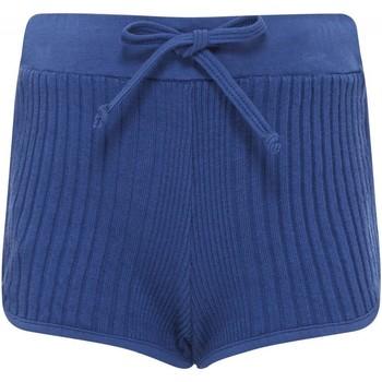 Vêtements Fille Shorts / Bermudas Sunchild Short en coton uni cotelé RIO Bleu