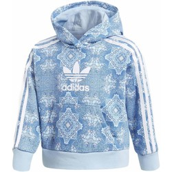 Vêtements Fille Sweats adidas Originals CC FELPA CON CAPPUCCIO CELESTE Bleu