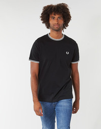 Vêtements Homme T-shirts manches courtes Fred Perry TWIN TIPPED T-SHIRT Noir