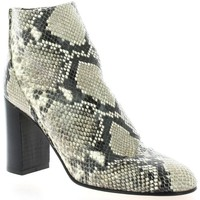 Chaussures Femme Bottines Giancarlo Boots cuir serpent Gris