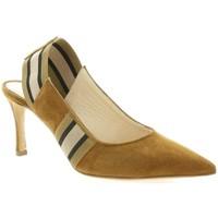 Chaussures Femme Escarpins Giancarlo Escarpins cuir velours Camel