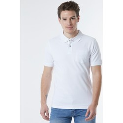 Vêtements Homme Polos manches courtes No Name Polo coton  BRODWAY White