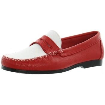 Chaussures Xavier Danaud Mocassins cuir ref_taj45787 rouge blanc
