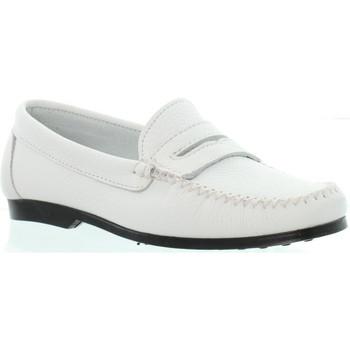 Chaussures Xavier Danaud Mocassins cuir ref_taj45786 Blanc