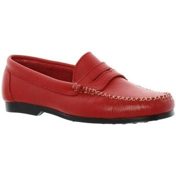 Chaussures Xavier Danaud Mocassins cuir ref_taj45786 Rouge