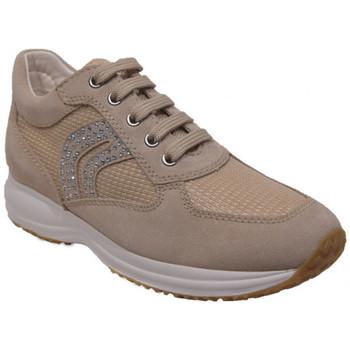 Chaussures Femme Baskets basses Geox donna happy Beige