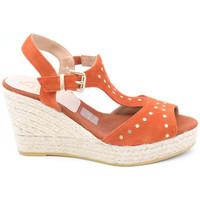 Chaussures Femme Sandales et Nu-pieds Kanna kv8126 rouge
