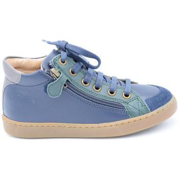 Chaussures Garçon Boots Shoo Pom play hi bi zip vert