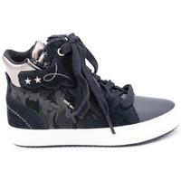 Chaussures Fille Baskets montantes Geox jkalispera Noir