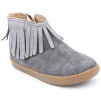 Chaussures Fille Boots Shoo Pom bouba fringe Gris