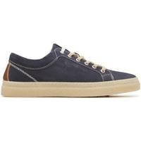 Chaussures Homme Baskets basses IgI&CO 87254 sneakers scarpe uomo in pelle blu con memory foam Blue