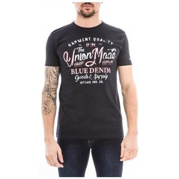 Vêtements Homme T-shirts manches courtes Ritchie T-shirt col rond pur coton NALADOR Bleu marine