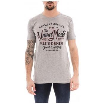 Vêtements Homme T-shirts manches courtes Ritchie T-shirt col rond pur coton NALADOR Gris
