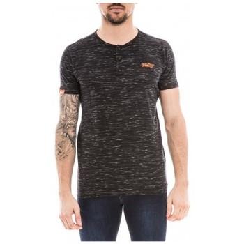 Vêtements Homme T-shirts manches courtes Ritchie T-shirt col tunisien NANGEL Noir