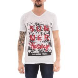 Vêtements Homme T-shirts manches courtes Ritchie T-shirt col V NOGOTA Gris clair