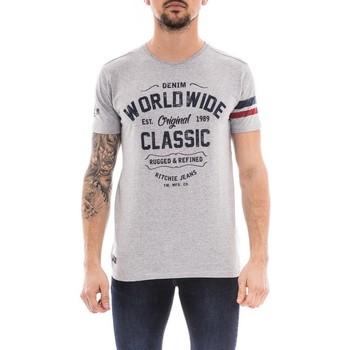 Vêtements Homme T-shirts manches courtes Ritchie T-shirt col rond NOLERO Gris chiné