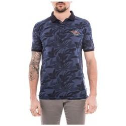 Vêtements Homme Polos manches courtes Ritchie Polo manches courtes pur coton PEROUX Bleu marine