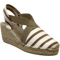 Chaussures Femme Espadrilles Toni Pons Tarbes Ecru Rayé taupe
