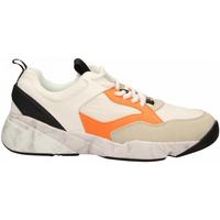 Chaussures Homme Baskets basses Cromier TECNOnylon white-orange