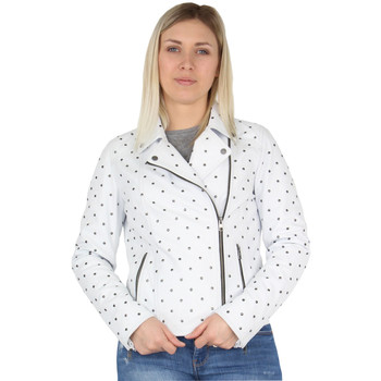 Vêtements Femme Blousons Oakwood Blouson style perfecto  Meliana en cuir ref Blanc