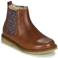 Chaussures Fille Boots Acebo's 5274-CUERO-J Cognac