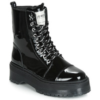 Chaussures Femme Boots Bronx RIFKA SUPER CHUNKY Noir
