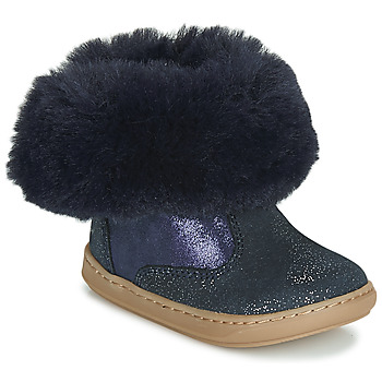 Chaussures Fille Boots Shoo Pom BOUBA FUR BOOTS Marine