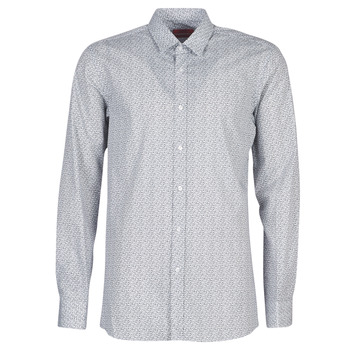Vêtements Homme Chemises manches longues HUGO ELISHA02 Gris