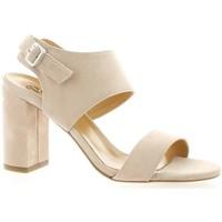 Chaussures Femme Sandales et Nu-pieds Pao Nu pieds cuir velours Poudré