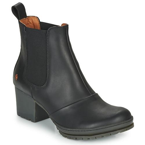 Bottines Femme Art Chaussures Noir Camden H29YeWEID