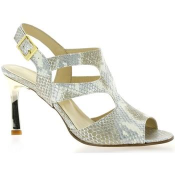 Chaussures Femme Sandales et Nu-pieds Elizabeth Stuart Nu pieds cuir python Argent