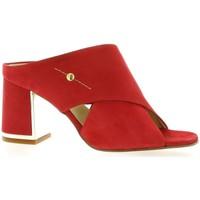 Chaussures Femme Sandales et Nu-pieds Elizabeth Stuart Mules cuir velours rouge