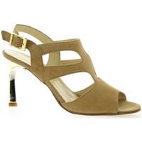 Chaussures Femme Sandales et Nu-pieds Elizabeth Stuart Nu pieds cuir velours Camel