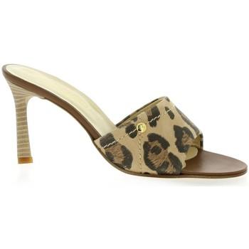 Chaussures Femme Claquettes Elizabeth Stuart Nu pieds cuir velours Leopard