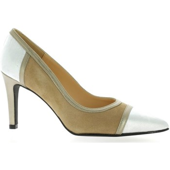 Chaussures Femme Escarpins Brenda Zaro Escarpins cuir velours Camel