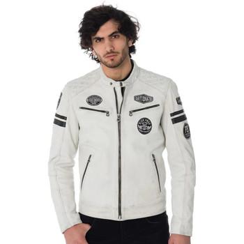 Vêtements Homme Vestes en cuir / synthétiques Daytona WALKER SHEEP ATLAS WHITE Blanc