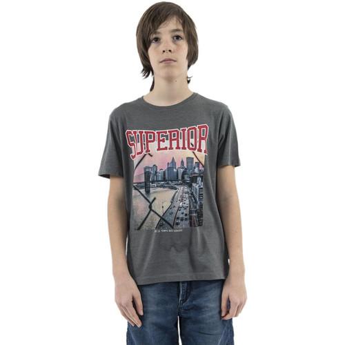 Vêtements Garçon T-shirts manches courtes Le Temps des Cerises vandabo gris