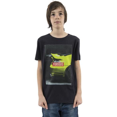 Vêtements Garçon T-shirts manches courtes Le Temps des Cerises walterbo bleu