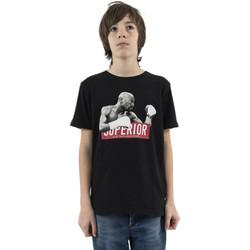 Vêtements Garçon T-shirts manches courtes Le Temps des Cerises clashbo noir