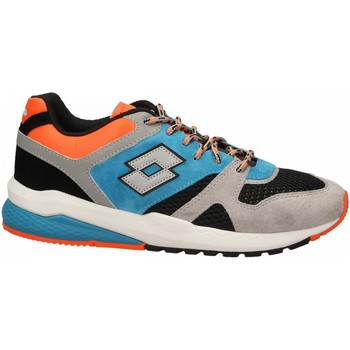 Chaussures Homme Baskets basses Lotto MARATHON BLOCK 1yd-gray--black-blue