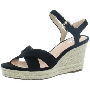 Chaussures Femme Espadrilles Geox Sandales à talons compensés  ref_46039 Noir noir
