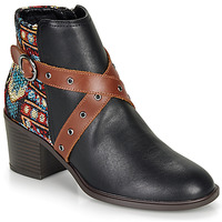 Chaussures Femme Bottines Desigual ALASKA TAPESTRY Noir
