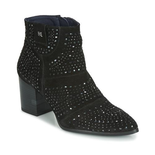 Chaussures Femme Bottines Dorking LESLY Noir