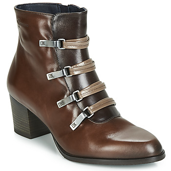 Chaussures Femme Bottines Dorking ZUMA Camel