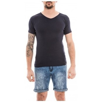 Vêtements Homme T-shirts manches courtes Ritchie T-shirt coton organique WORKAWAY Bleu marine